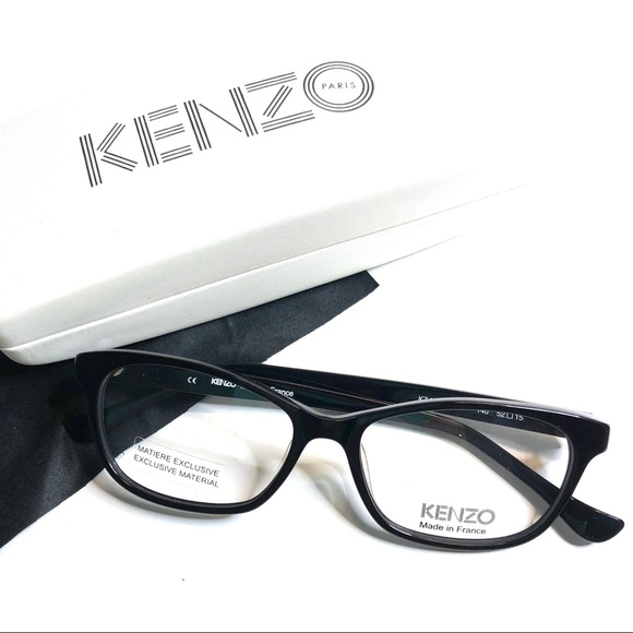 73f6fb9a4b5 New KENZO Eyeglasses Black and Blue Frame
